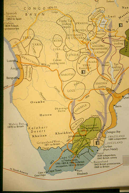 19th Century Africa Map.South African Tokens